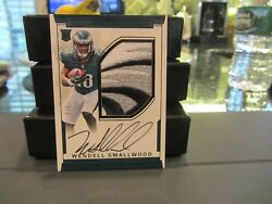 National Treasures Rookie Autograph Jersey Eagles Wendell Smallwood 2/5 2016