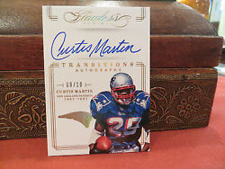 Panini Flawless Gold On Card Autograph Patriots Curtis Martin 09/10 2014
