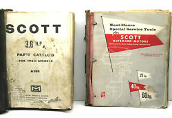 1960 Mcculloch Marine Products Catalog+scott Outboard Motor Service Tools+aids++