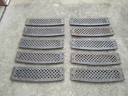 10 Vintage Cast Iron Architectural Stair Treads/steps Deco Steampunk Industrial