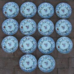 14 Antique Minton And Boyle Bb New Stone / Ironstone A1106 Bread Plates C. 1841