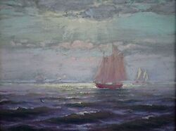 Charles A. Watson American,1857-1923 Original Oil Painting C.1880's Seascape