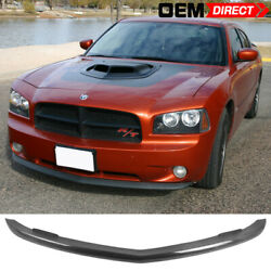 Fits 06-10 Dodge Charger Oe Style Front Lower Lip Splitter Real Carbon Fiber