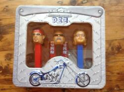 Orange County Choppers Pez Dispenser Set In Collectible Tin, Brand New And Sealed.