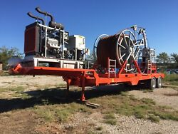 Trailer Mounted Coil Tubing Unit Complete with 6V71 Detroit Diesel-Oil Drilling.