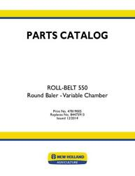 New Holland Roll-belt 550 Round Baler - Variable Chamber Parts Catalog