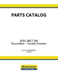 New Holland Roll-belt 560 Round Baler - Variable Chamber Parts Catalog