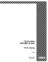 Case Ih 715 Combine 23001 And After Parts Catalog