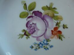 Original Russian Gardner Porcelain Plate, Marked, About 1820 Year, 21cm 8inch