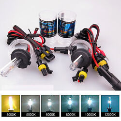 35W 2pcs of Xenon HID Headlight Bulbs replacement H1 H4 H8H9H11 9006 Good