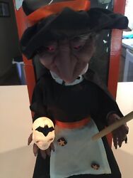 Telco Motionette Animated Halloween Witch With Box