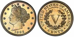 1894 Pcgs Pf-66+ Cac Liberty Nickel Superb Eye Appeal Strong Mirrors Pop 3 Pq