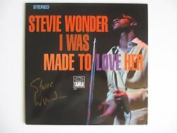 Stevie Wonder Signed I Was Made To Love Her Vinyl Record Lp Dc/coa