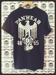 Panhead Engine & Imperial Eagle shirt rear graphic biker heads chopper Biker