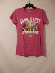 John Deere Since 1837 Pink Tractor T Shirt Nwt Adult Size M