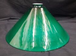 Large Green White Cased Lamp Shade