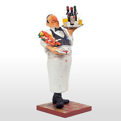 The Comic Art Of Guillermo Forchino The Waiter Figurine Restaurant Figure New