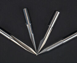5pc 6mm X30anddeg X 0.5mm Double Straight Flute Sharp Tool Engraving Cnc Router Bits