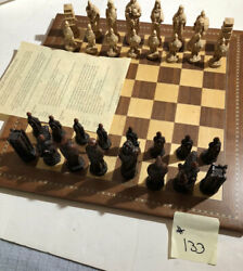 Studio Anne Carlton Battle of Hastings England Handcrafted Chess Piece Set A157