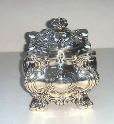Antique Sterling silver sugar bowl with cover: Walker & Hall Sheffield 1896.
