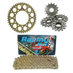 Ducati M 800 Monster 03-04 Renthal And Tsubaki Racing Pro 520 Pitch Sprocket Kit