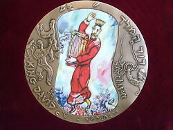 King David Marc Chagall Giant Copper Medal Modelia 1993 New In Box+coa