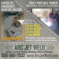 Arc-jet-weld / Stealth Weld Device The Emergency Mission Critical Apu/welder...