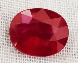 4.34 Ct 100 % Natural Certified Mozambique Vivid Red Ruby Oval Loose Gemstone