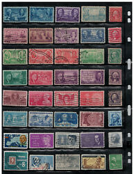 OLD US STAMPS COLLECTION 12 PAGES