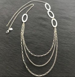 New Silpada N1720 Sterling Silver Cascading Oval Links 32 Necklace 139 Rtl