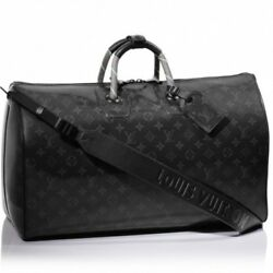 Louis Vuitton LV Keepall 50 Travel Hand Shoulder Bag Bandouliere POP UP Isetan