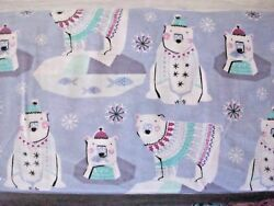 #425 New Flannel Fabric BTY ; 2 Yds (select size) Patterned Trap Bear polar fish