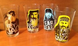 Duck Dynasty Commander Collectible Set Of 4 Beer Glasses Great Gift