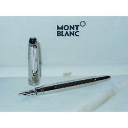 New* Montblanc Solitaire Jewellery Platinum Plated Mozart Fountain Pen 107574 F
