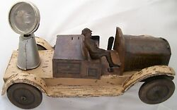 Tippco Tin Toy Clock Work Military Truck With Light 23 Cm. In Large Run