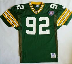 Vintage Reggie White Green Bay Packers Starter Authentic Jersey Size 48