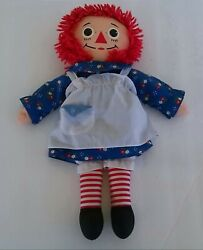 Vintage Collectible Raggedy Anne Doll By Johnny Gruelle 1980's
