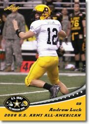 100 Ct Lot 2012 Andrew Luck Leaf U.s. Army Aflac All-american Rookies Stanford