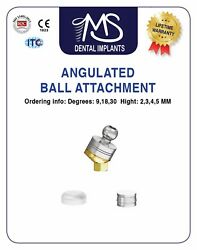 X30 Angulated Ball Attachment Set For Internal Hex Dental Implants Systems Lab