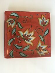 Southern Living At Home Red Bountiful Platter By Gail Pittman