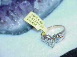 14K 1.35ct Pear DIAMOND ENGAGEMENT RING 5.8Gr Size 7 Multi gold New Tag $13600.