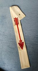 Vintage Oa Order Of The Arrow Boy Scout Sash -54 Inch Length Size L Cloth Used