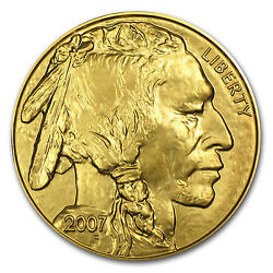 New 2007 1 Oz Gold .9999 Buffalo Coin -- Brilliant Uncirculated - 14 Available