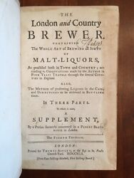 Rare 1742 London And Country Brewer Malt Liquor Beer Ale Cask Brewhouse Brewing