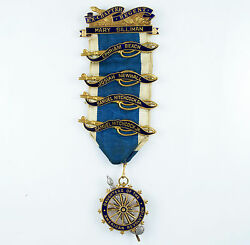 14k Solid Gold Daughters Of The American Revolution Medal Mary Silliman Chapter