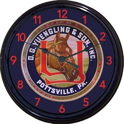 Yuengling And Son Pony Pottsville Pa Beer Tray Wall Clock Maly Ale Man Cave