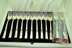 Lot Of 12 Sterling Silver Reed And Barton Classic Rose 6 1/2 Salad Forks