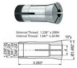 24 Pc. 3mm-26mm X 1mm 5c Precision Metric Round Collet Set-0.0004 Concentricity