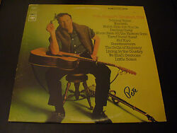 Pete Seeger Rare In Person Hand Signed Greatest Hits Vinyl Cover+lp+proof = Rip