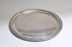 Wallace Sterling Silver Round Serving Tray 6611, 12 Dia./ Mono/545 Gr.